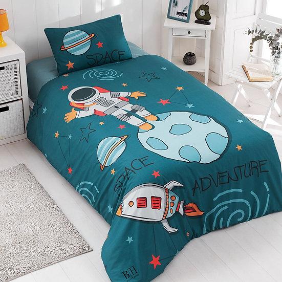 Κουβερλί μονό Space Art 6167 - 160x240 Μπλε, Πράσινο Beauty Home