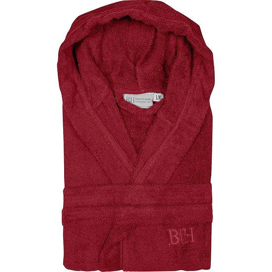 Μπουρνούζι με κουκούλα Art 3273 - L-XL Κόκκινο Beauty Home