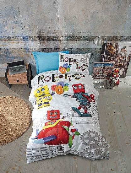 Παιδικό σετ παπλωματοθήκη ROBOTS MADI MONH