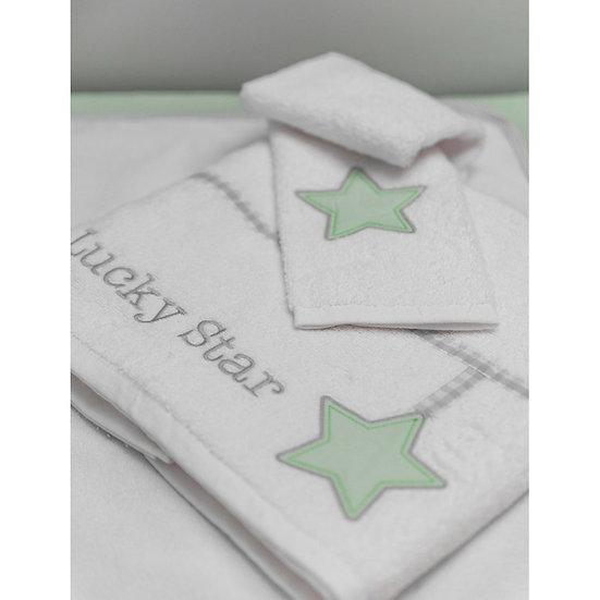 Βρεφικές Πετσέτες (Σετ 2τμχ) Baby Oliver Lucky Star Mint 304