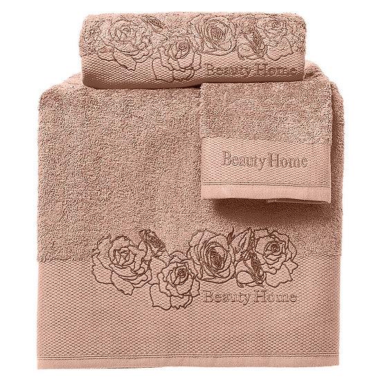 Σετ πετσέτες Art 3252 - Σετ 3τμχ Καφέ Beauty Home