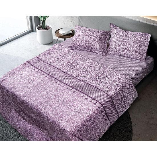 Σετ σεντόνια υπέρδιπλα Camellia - 230x240 Εμπριμέ Beauty Home