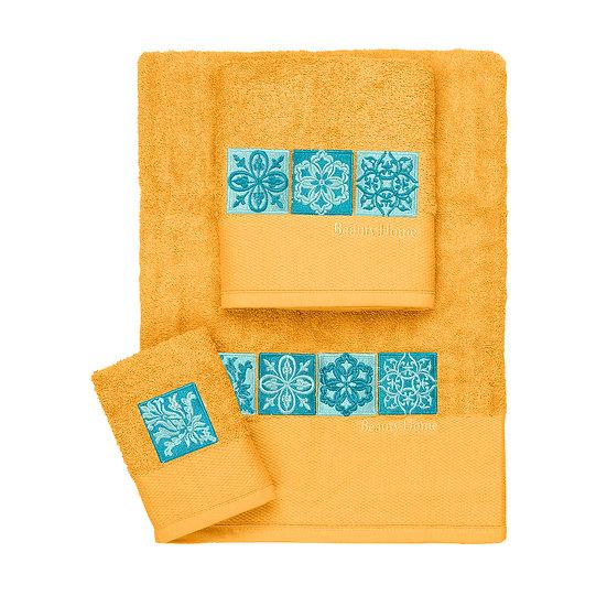 Σετ πετσέτες Art 3307 - Σετ 3τμχ Κίτρινο Beauty Home