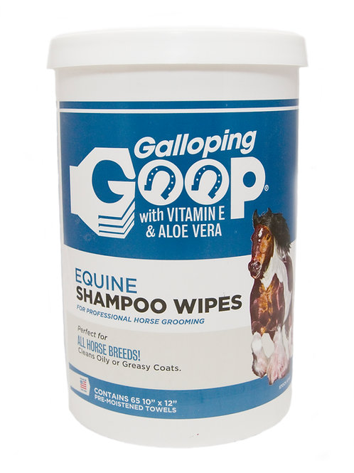 Galloping Goop Rinse Free Shampoo Wipes (65 per Can)