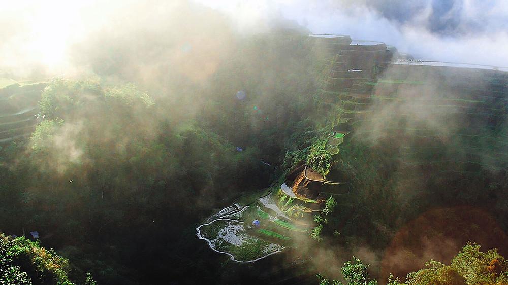 Photo prise au Banaue Rice Terraces Viewpoint par le blog voyage ouiphilippines