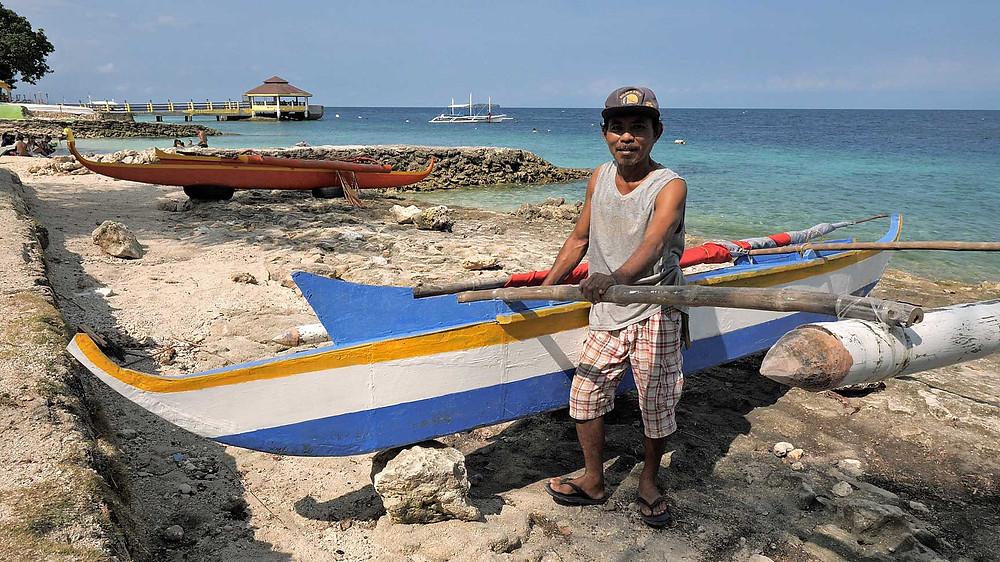 La plage de Panagsama à Moalboal en mai 2021