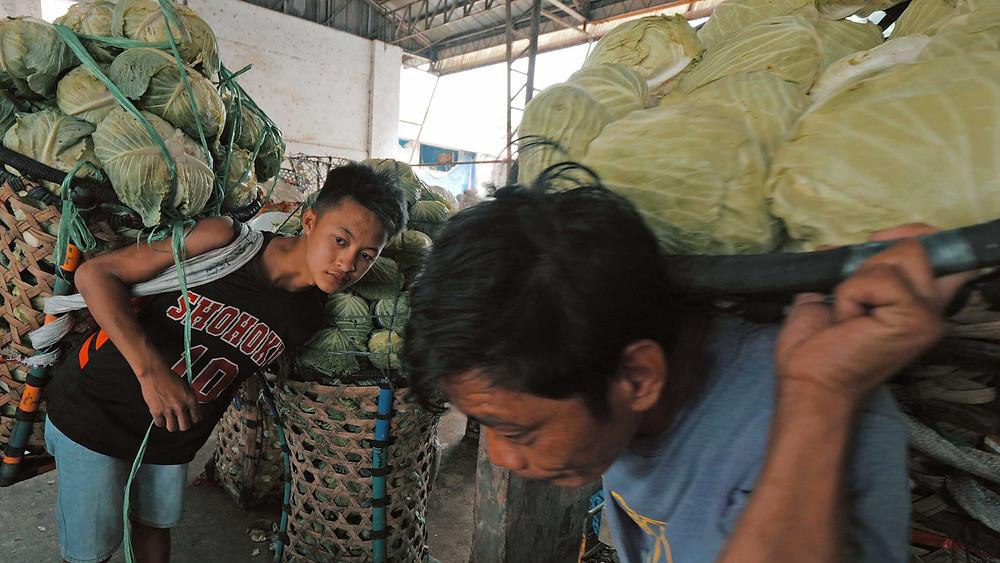 Mantalongon a tout du paradis pour Bio, fabuleux  marché aux légumes épargné par le tourisme