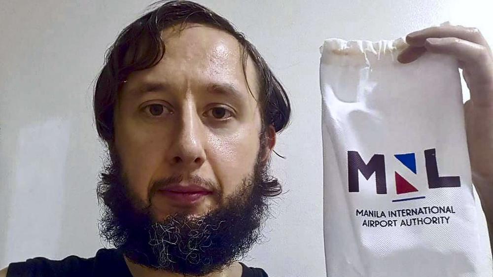 Roman Trofimov. Il rentre chez lui après 110 jours bloqué à l'aéroport de Manille
