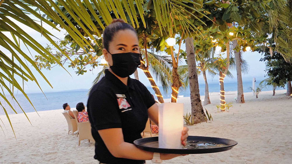 l'Exotic, excellent restaurant à Malapscua. Il faut se laisser séduire par les conseils de la serveuse.