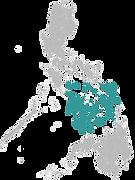 Une carte de l'archipel des Visayas pour illustrer mon carnet de voyage