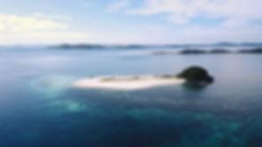 La belle île tropicale de North Cay vue aérienne. mer à Busuanga