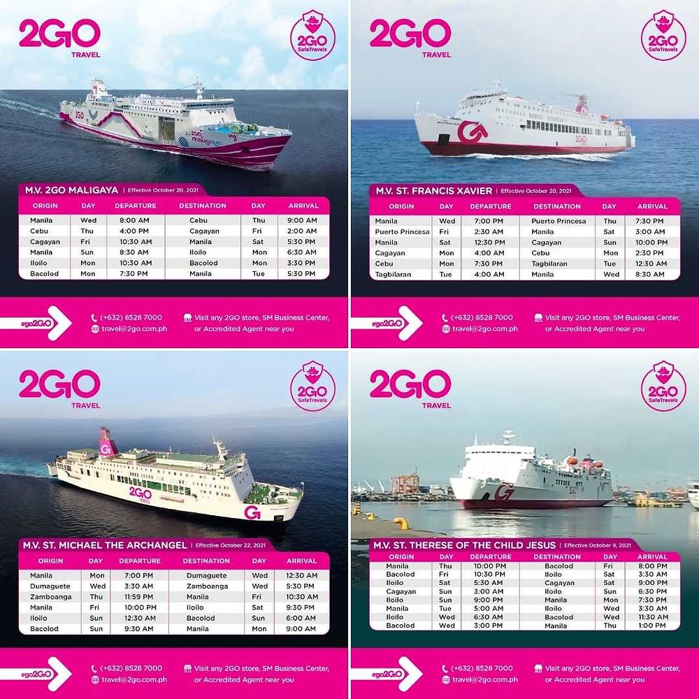 2GO continue de relier Manille à tous les grands ports des Visayas et de Mindanao.