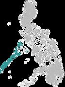 Une carte de l'archipel de Palawan pour illustrer mon carnet de voyage