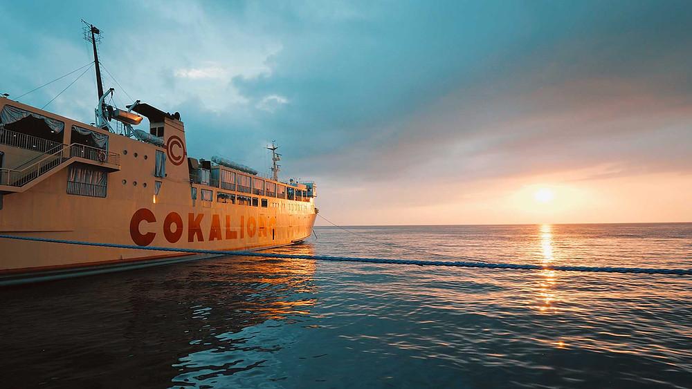 Cokaliong Shipping Line M/V Filipinas Mindanao au port de Dumaguete avril 2021