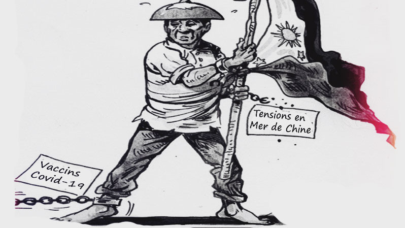 Editorial cartoon : 123e fête de l'indépendance aux Philippines