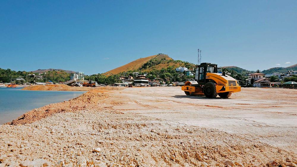 Coron Palawan, les grands travaux sur le front de mer 2021
