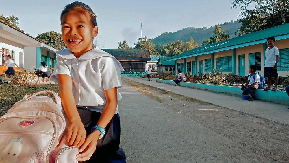 Aller à l'école comme dans le bon vieux temps! Île de Busuanga janvier 2020