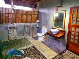 Salle de bain extérieure une merveille !
