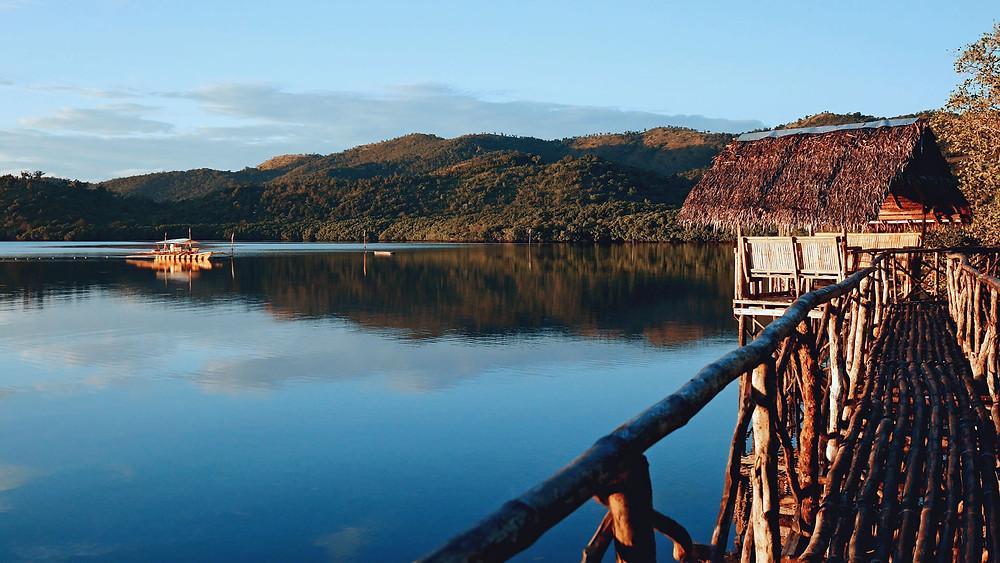La baie de Malbato au lodge Himulak à Coron