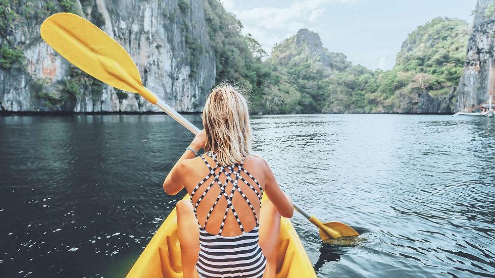 Kayak à Palawan, une destination qui ouvre ou va ouvrir aux Philippines en 2022
