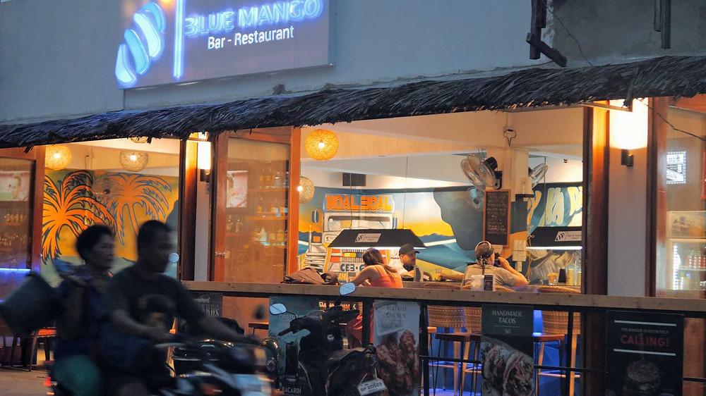 Blue Mango c'est le Snack-Bar tendance du moment à Panagsama
