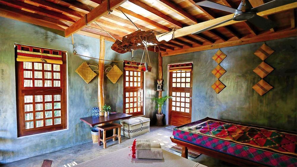 Esprit campagne pour cette chambre Himulak rustique et nature, comme une chambre de vacances