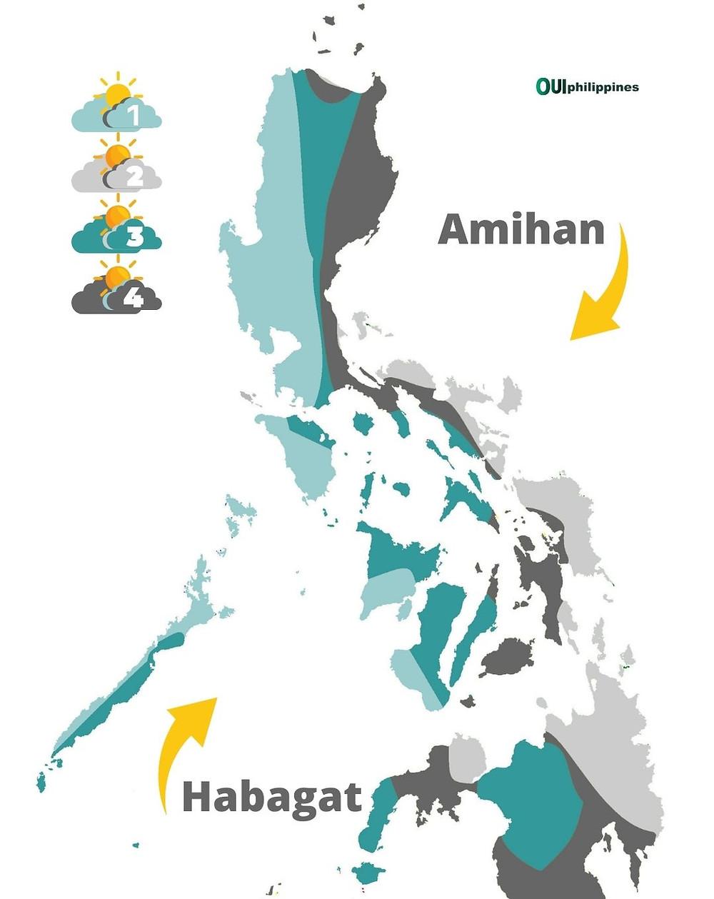 Maps - Quand partir aux Philippines ? Climat, météo et carte