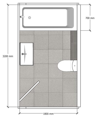 Detailed Bathroom Plan
