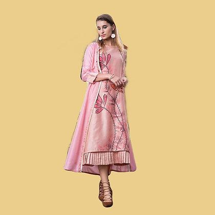 Pink Kurti with Jacket