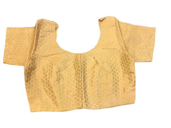 Golden Silk Blouse in Plus Sizes