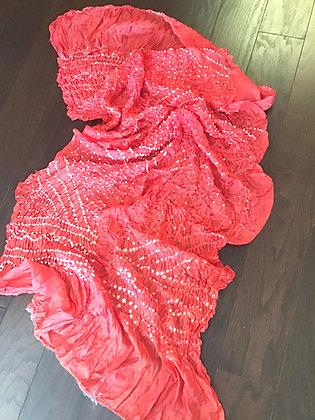 Outstanding Orange Bandhani Silk Dupatta