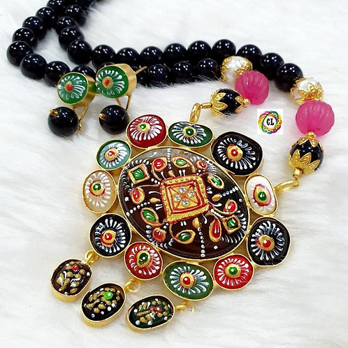 Hand Painted Mala Set