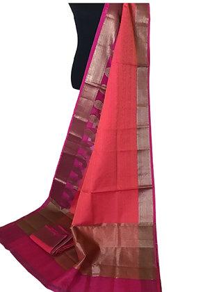 Pretty Pink Kota Silk Saree