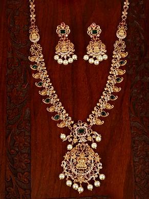 Beautiful Long Haram Luxmi Necklace Set