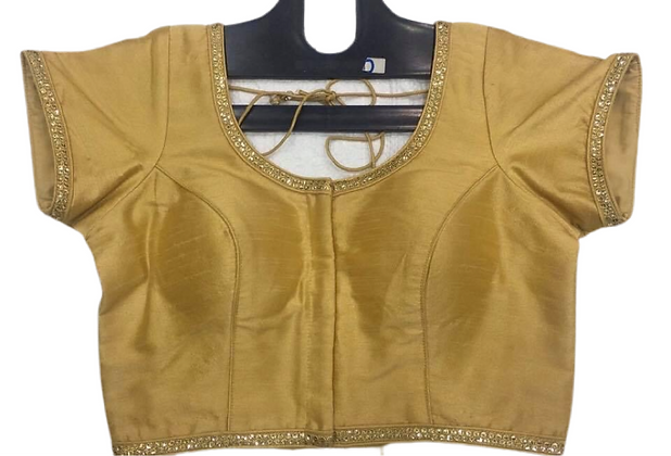 Golden Silk Blouse in Plus Sizes