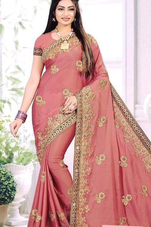 Crepe Silk Blush Pink Saree