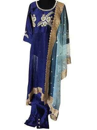 Trendy Style Blue Pant suit Set