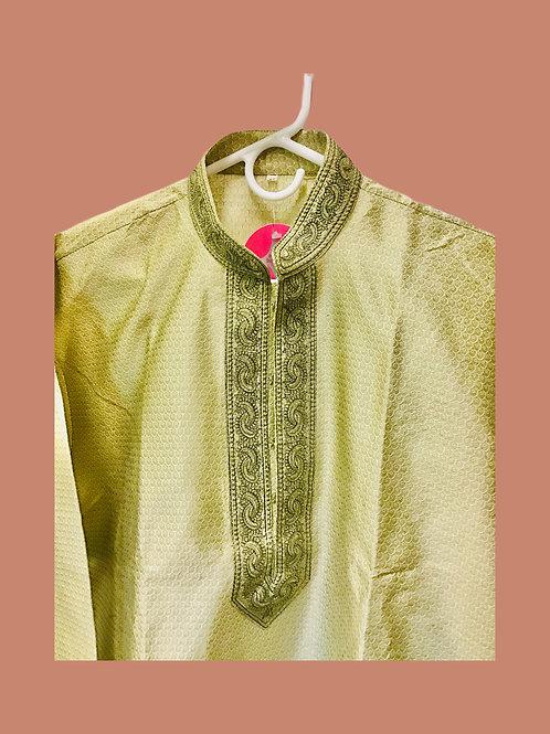 Embroidered Jacquard Silk Kurta Set