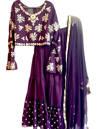 4xl Purple Lehanga Choli