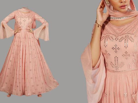 Elegant Peach Salwar Suit