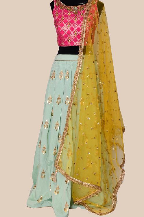 3 Color Lehanga Choli