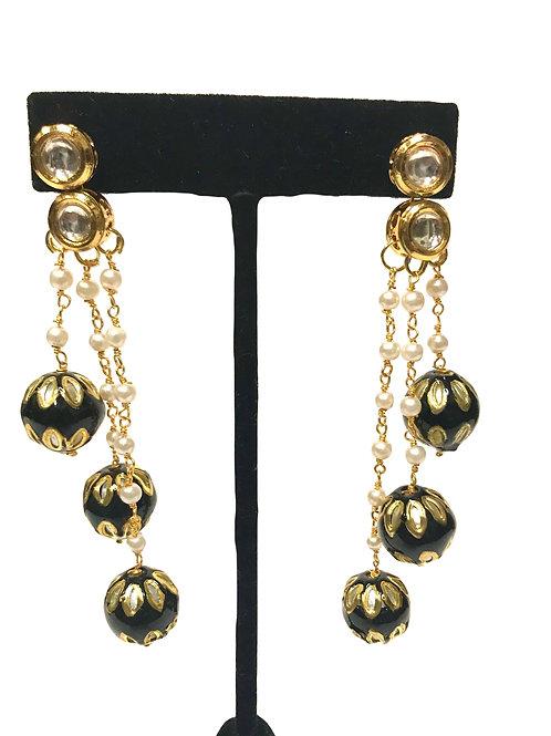 Black Dangler Earring