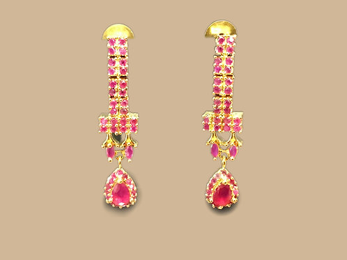 Beautiful Pink AD Stones Earring