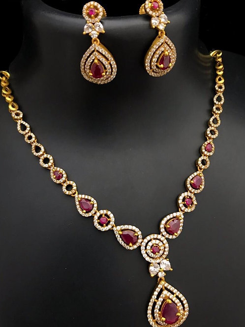 Beautiful Pink Necklace Set