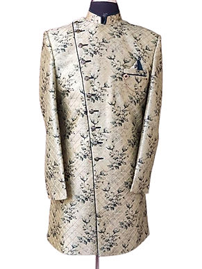 Marvelous Cream Indo-Western Sherwani