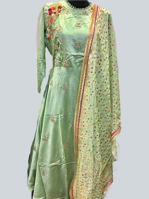Mint Green kurta with dupatta