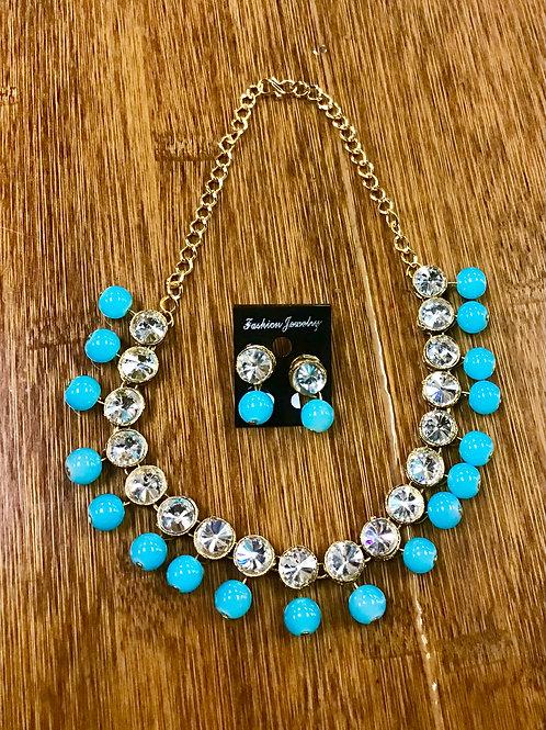 Contemporary Skyblue Necklace