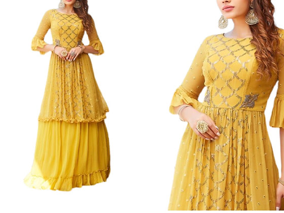 Glorious Yellow Lehanga Choli