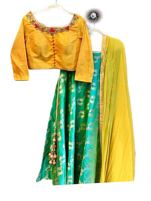 Pretty Woven Silk Lehanga Choli