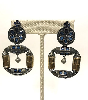Dual Tone German Silver Earring